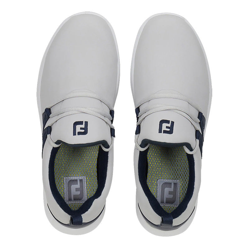 Footjoy Womens Leisure Slip-On Golf Shoes - Sand/Navy -Previous Season Style