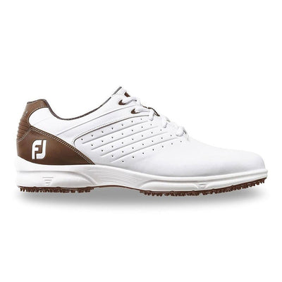 Footjoy Arc SL Golf Shoes - White/Brown - Previous Season Style