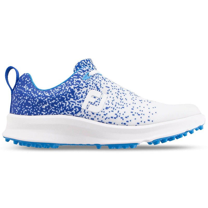 Footjoy Womens Leisure Golf Shoes - White/Blue - Previous Season Style