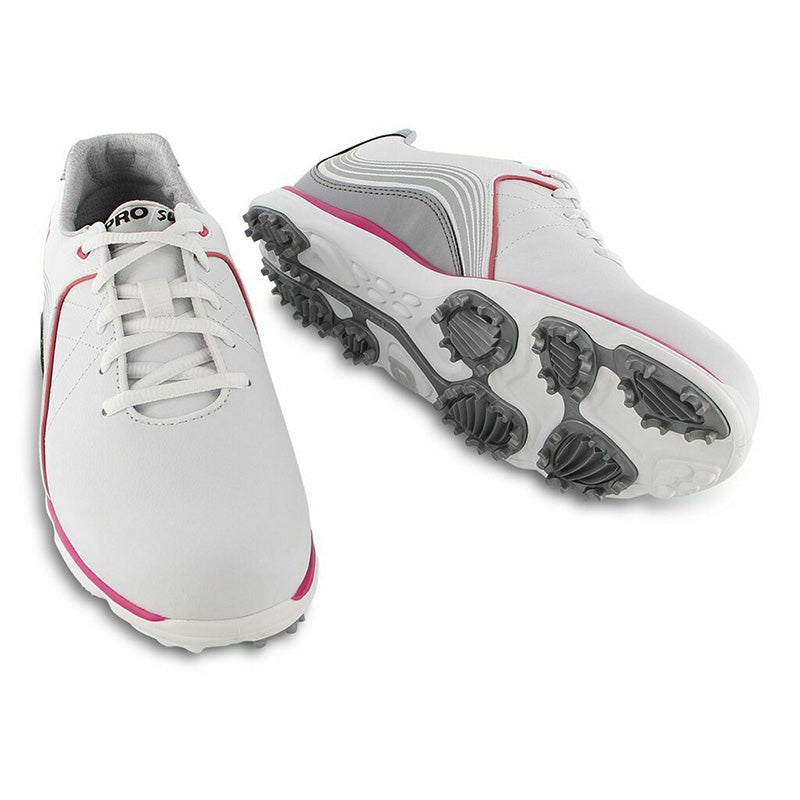 Footjoy Womens Pro/SL Golf Shoes - White/Fuscia - Previous Season Style