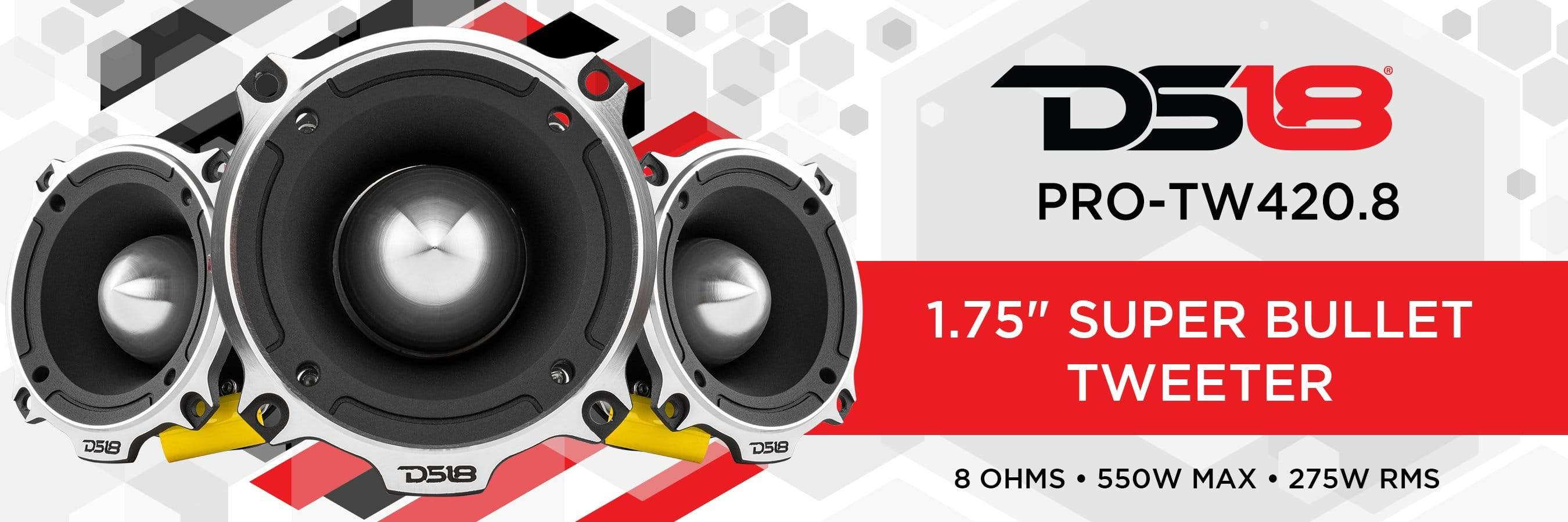 1.75 SUPER TWEETER WITH BULLET 8 OHMS (SINGLE)