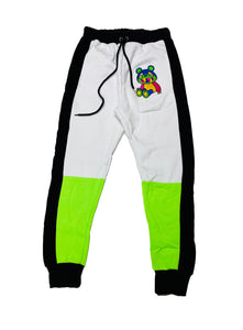 Retro Label Mira Drip Joggers (Neon Green)