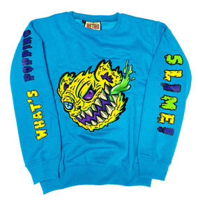 RETRO LABEL Slime Bear Crewneck (Blue)