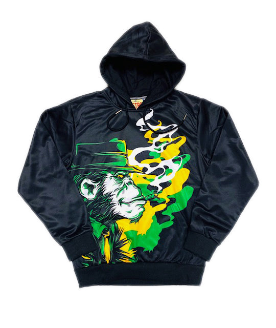 Retro Label Smoking Aces Hoodie (Green)