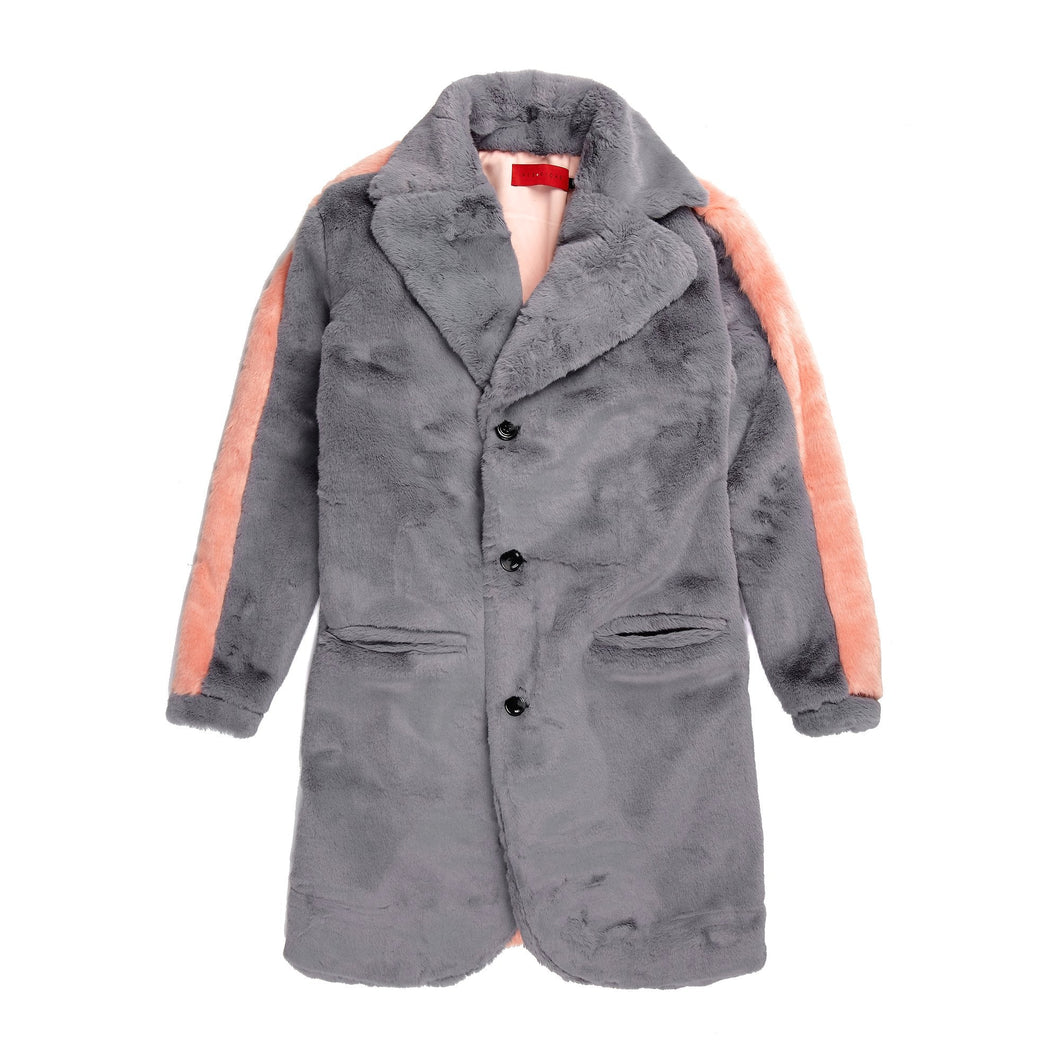 Vie Riche Teddy Bear Overcoat (Grey)