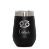 12 oz Wine Cup - Cancer Sign