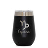 12 oz Wine Cup - Capricorn Sign