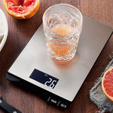 MIRA Digital Kitchen Food Scale | Portable 11 Lb Capacity Food Scale Measures Grams, Pounds & Ounces Glass Platform Kitchen Scale