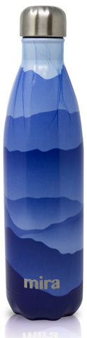 MIRA Cascade Water Bottle - 25 oz (750 ml) - Printed - Blue Mountain