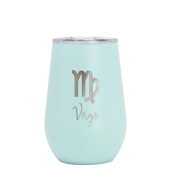 12 oz Wine Cup - Virgo Sign