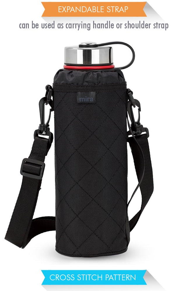 Water Bottle Carrier | Wide Mouth Bottles | Ballistic Nylon | 40 oz Sierra