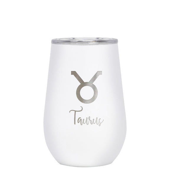12 oz Wine Cup - Taurus Sign