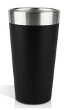 MIRA Vacuum Insulated Beer Tumbler | Double Wall Stainless Steel Beverage Mug | Durable True Pint Glass Cup Keeps Your Drink Cold & Hot, Sweat Free | 1 Pint (16 oz) | Black