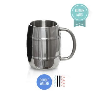 7af4285318c Mira Vacuum Insulated Travel Beer Growler with Handle | Leak-proof Double  Walled Stainless Steel. travel coffee mugs