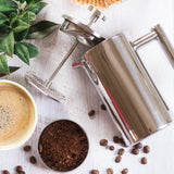 MIRA Double Wall Tea & Coffee Brewer French Press | Stainless Steel Insulated Coffee Pot & Maker | Keeps Brewed Coffee or Tea Warm for Hours | 20 Oz (600 ml)