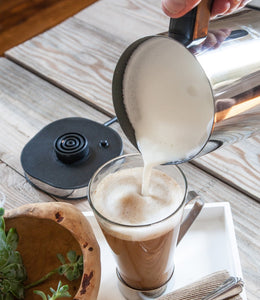 MIRA Automatic Electric Milk Frother, Warmer & Heater | Perfect Foam for Coffee, Latte, Hot Chocolate, Cappuccino | Auto Shut-Off, Detachable Base & Non-Stick Interior | Stainless Steel