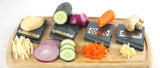 Zell Adjustable Mandoline Slicer Set | 4 Interchangeable Stainless Steel Blades Cut, Peel, Slice Grate & Julienne Slicer | Durable Lightweight Multipurpose Vegetable, Cheese Slicer & Grater