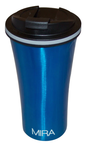 MIRA Stainless Steel Insulated Travel Car Mug | Leak & Spill Proof, Easy to Clean Lid | Double Wall Vacuum Insulated Coffee & Tea Mug Keeps Hot or Cold for Hours | 12 Oz (350 ml) | Blue