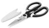 ikasu Premium Kitchen Shears | Heavy Duty Multi-Purpose Utility Scissors | Sharp Stainless Steel Blades with Protective Cover | Comfortable Sturdy Grip with Bottle Opener Slot