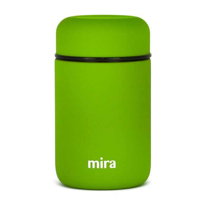 Mira Vacuum Insulated Lunch Food Jar | Durable BPA Free Stainless Steel | 13.5 Oz (400 ml) | Cactus Green