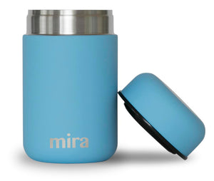 Mira Vacuum Insulated Lunch Food Jar | Durable BPA Free Stainless Steel | 13.5 Oz (400 ml) | Sky