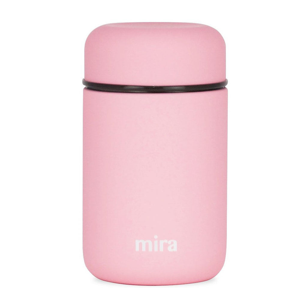Mira Vacuum Insulated Lunch Food Jar | Durable BPA Free Stainless Steel Lunch Container | Eco-friendly, Double Wall Lunch Jar Keeps Your Food Hot or Cold | 13.5 Oz (400 ml) | Rose Pink