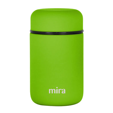 Mira Vacuum Insulated Lunch Food Jar - 13.5 Oz (400 ml) - Cactus Green