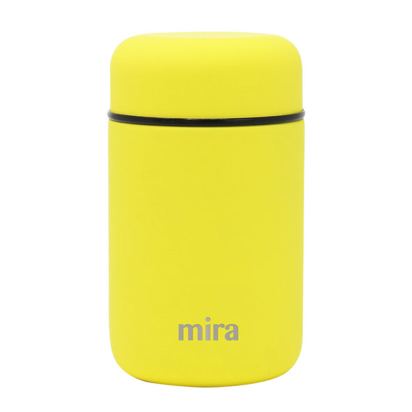 Mira Vacuum Insulated Lunch Food Jar - 13.5 Oz (400 ml) - Lemon Yellow