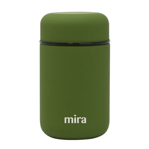 Mira Vacuum Insulated Lunch Food Jar - 13.5 Oz (400 ml) - Olive