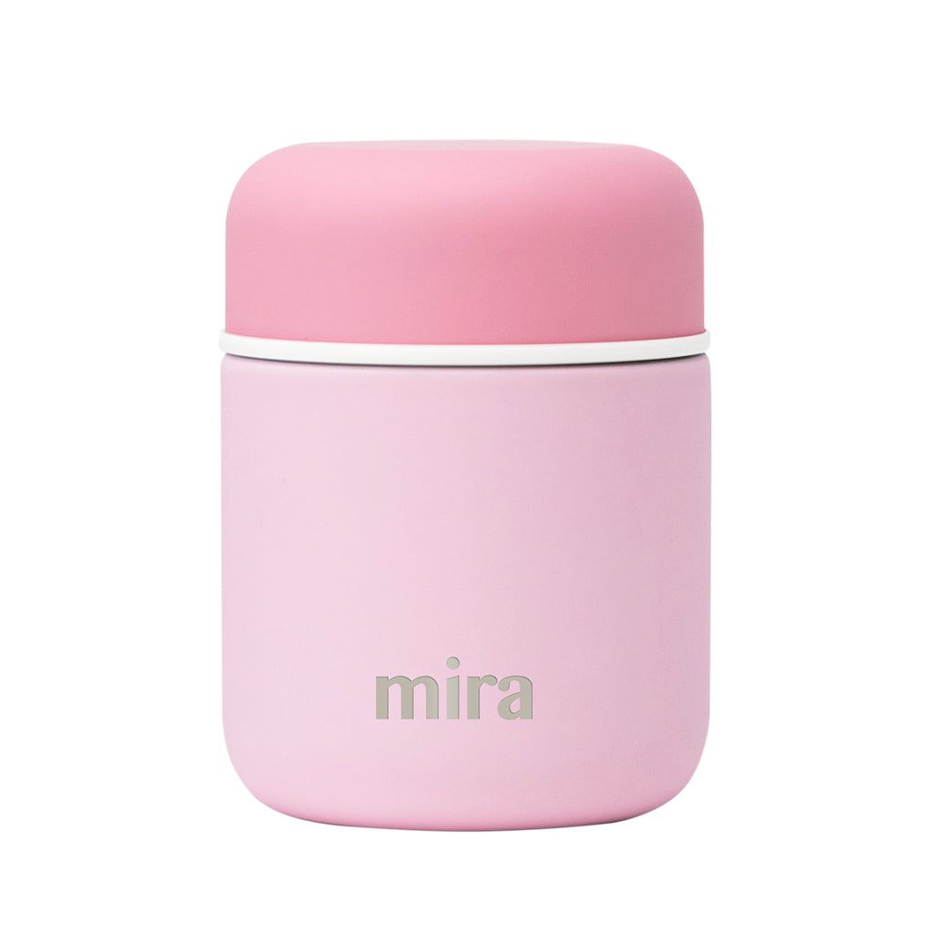 Mira Vacuum Insulated Lunch Food Jar - 9 Oz (280 ml) - Pink, Lid - Pink