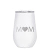 12 oz Wine Cup - Mom Heart