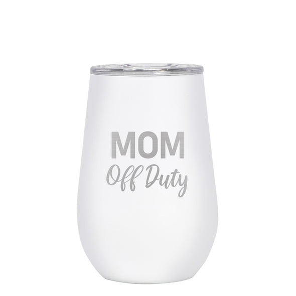12 oz Wine Cup - Mom Off Duty
