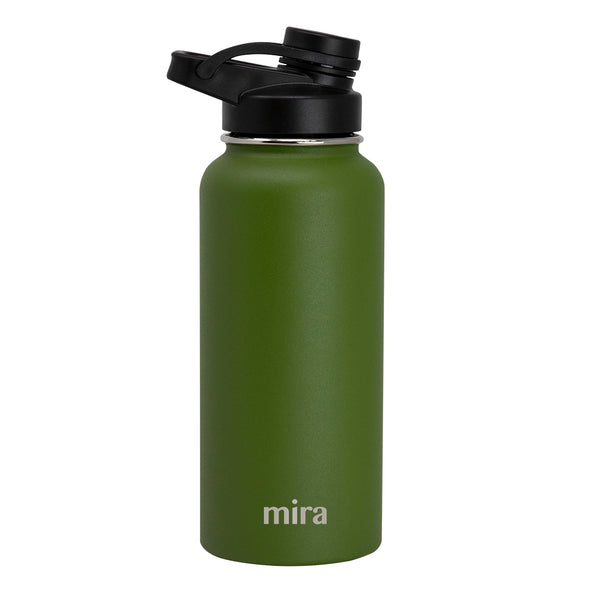 Mira Sierra Water Bottle | Spout Lid Cap - Olive Green