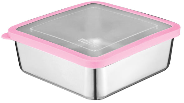 MIRA Stainless Steel Lunch Box Food Storage Container | 6 x 6 in | Rose Pink