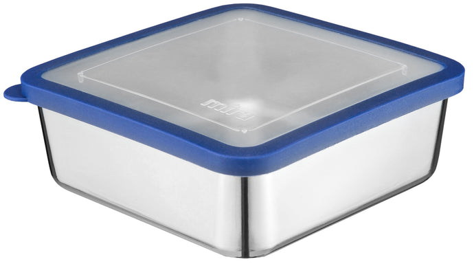 MIRA Stainless Steel Lunch Box Food Storage Container | BPA Free, Eco-Friendly, Reusable Sandwich Box & Snack Container | For Kids & Adults | 6 x 6 in | Transparent Lid