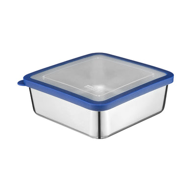 MIRA Stainless Steel Lunch Box Food Storage Container - 6 x 6 in - Blue