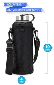 Water Bottle Carrier | Wide Mouth Bottles | Smooth Twill | 40 oz Sierra