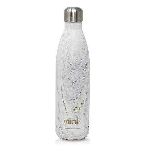 MIRA Cascade Water Bottle - 25 oz (750 ml) - Printed - White Granite