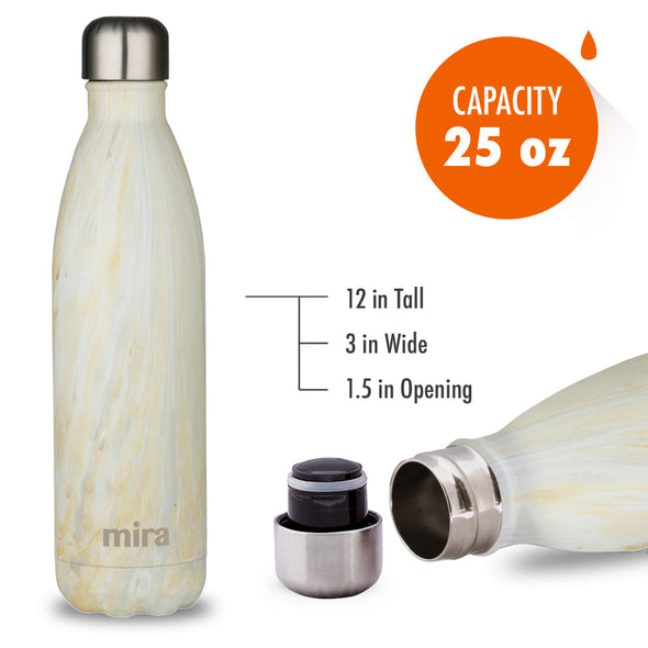 MIRA Cascade Water Bottle - 25 oz (750 ml) - Printed - Yellow Granite