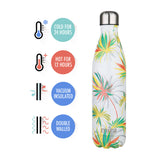 MIRA Cascade Water Bottle - 25 oz (750 ml) - Printed - White Palm