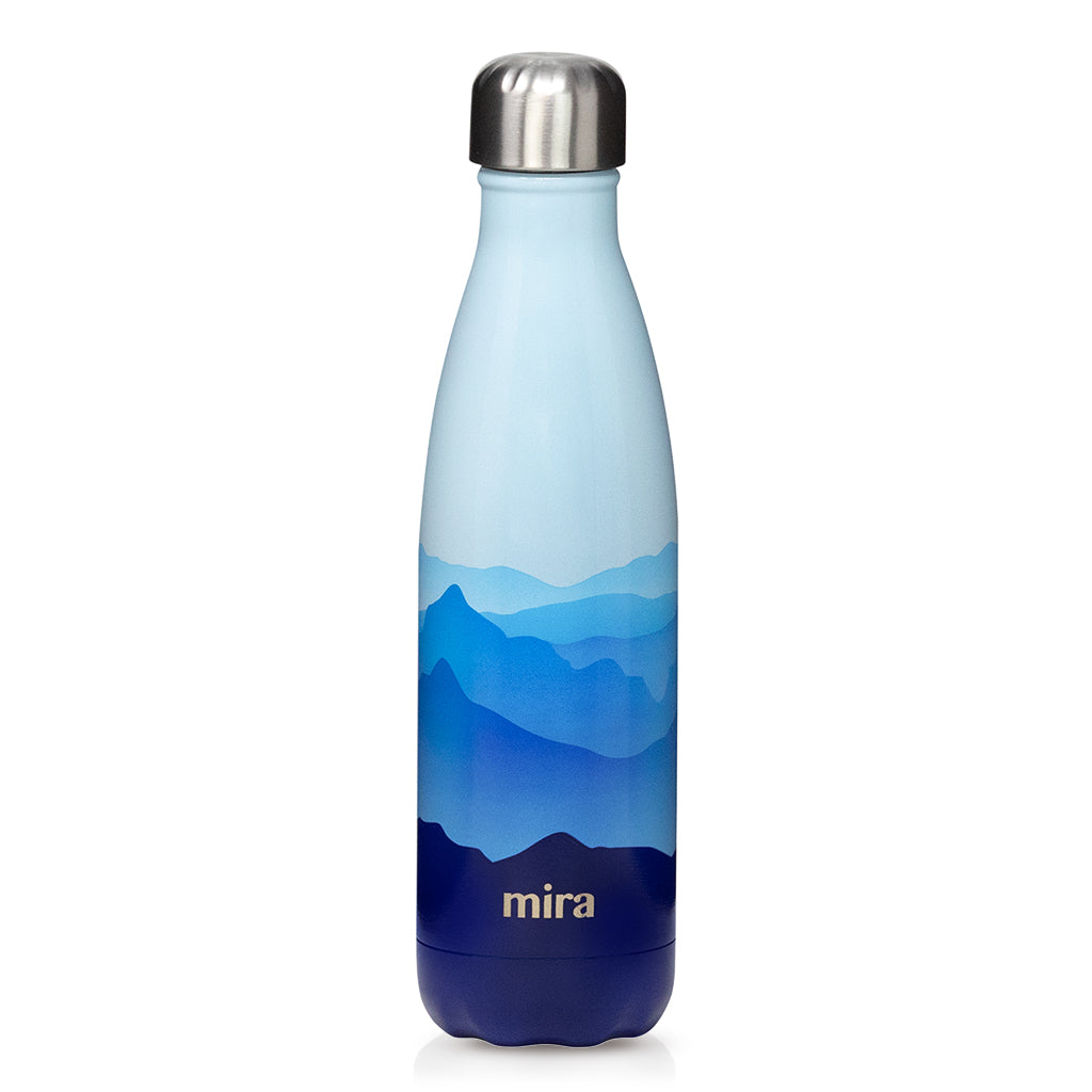 Cascade Water Bottle - Patterns - Blue Mountain
