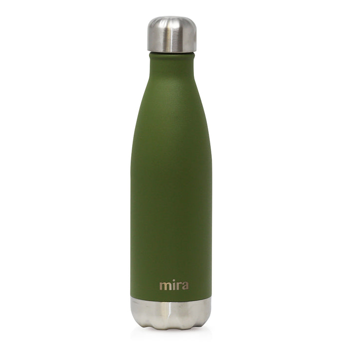Mira Cascade Water Bottle - Solid - Olive Green