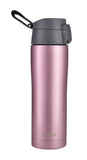 MIRA Stainless Steel Insulated Travel Car Mug | Leak & Spill Proof, Flip Lid with Lock & Handle | Double Wall Vacuum Insulated Coffee & Tea Mug Keeps Hot or Cold | 16 Oz (475 ml) | Rose