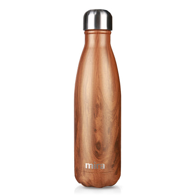 Mira Cascade Water Bottle - Patterns - Wood