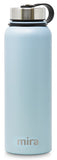 MIRA Sierra Water Bottle - 40 oz (1200 ml) - Pearl Blue