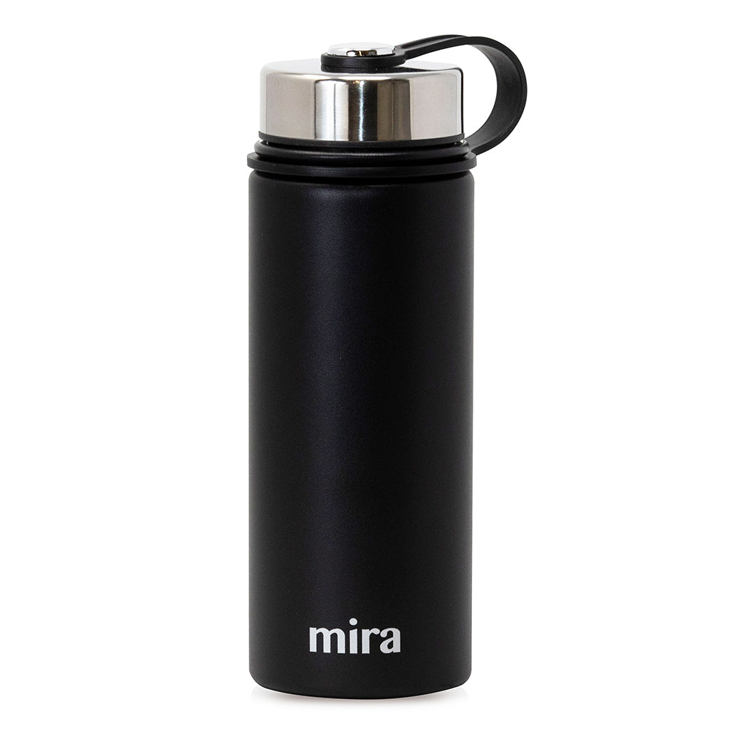 mira stainless steel vacuum insulated water bottle 18 oz black mira brands mira brands