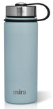 MIRA Sierra Water Bottle - 18 oz (550 ml) - Pearl Blue - 2 Caps