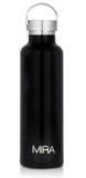 MIRA Alpine Water Bottle - 25 oz (750 ml) - Black