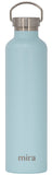 MIRA Alpine Water Bottle - 34 oz (1 Liter) - Matte Pearl Blue