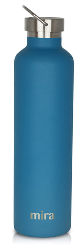 MIRA Alpine Water Bottle - 34 oz (1 Liter) - Hawaiian Blue